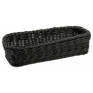 Evőeszköz kosár 28 x 12 cm fekete-mosható
