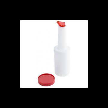 Speed Pourer Set, palack piros kiöntővel, 1L