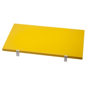Vágólap ütköző fülekkel 50 x 30 x 2 cm (sárga-főt és sült húsoknak)