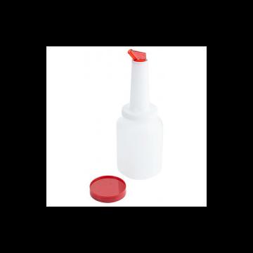 Speed Pourer Set, palack piros kiöntővel, 2 L