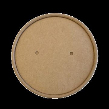 Tető leveses pohárhoz barna kraft papír,  komposztálható