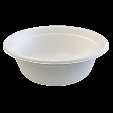 Komposztálható cukornád fehér leveses tál 500ML