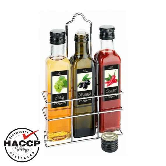 Olaj - ecet - szósz szett, üvegekkel, 3 x 100 ml