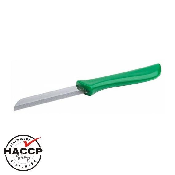 Hámozó kés zöld nyéllel 7 cm