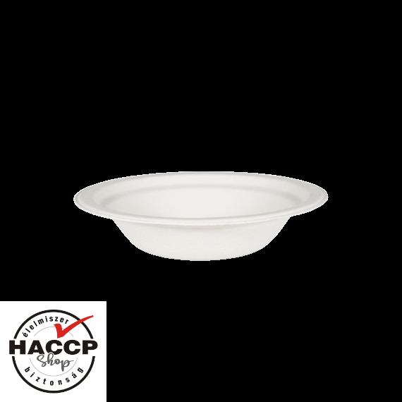 Komposztálható cukornád tányér leveses 400ml