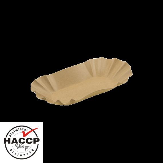 Ovál krumplis papírtálca KRAFT (175x105x30mm)