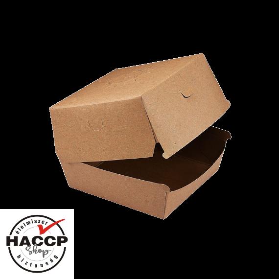 Papír hamburgeres doboz KRAFT 135x135x100mm