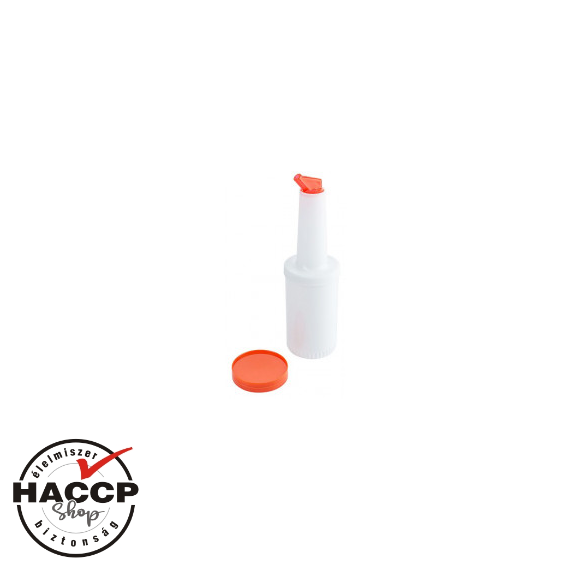 Speed Pourer Set, palack narancs sárga kiöntővel, 1L