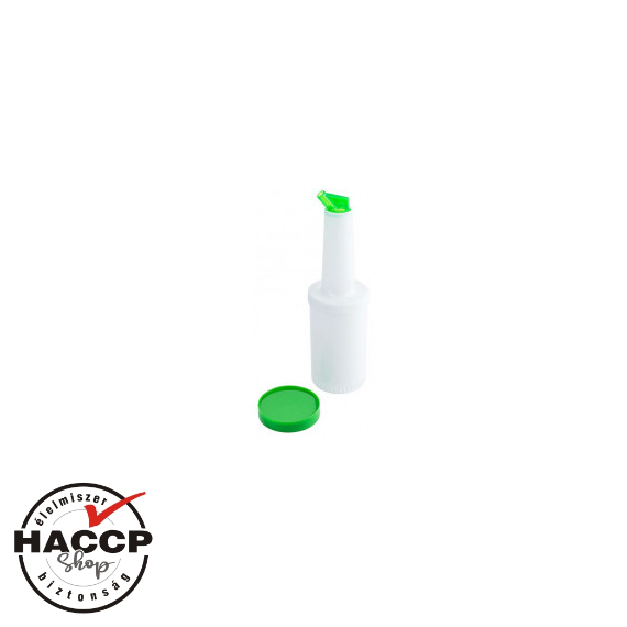 Speed Pourer Set, palack zöld kiöntővel, 1L