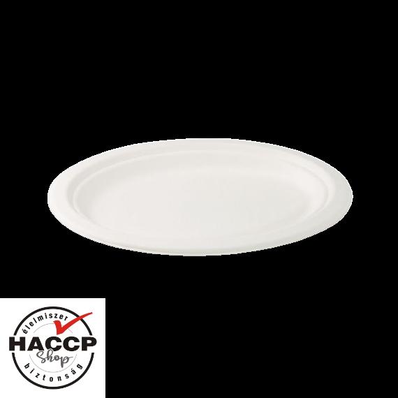 Komposztálható Cukornád tányér ovális 260x200mm