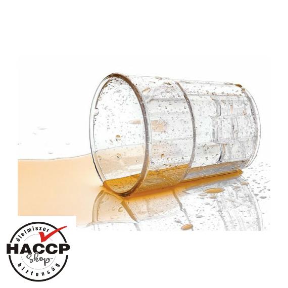 Törhetetlen polikarbonátból készült pohár 250 cc * MÉRSÉKELTEN HŐÁLLÓ *