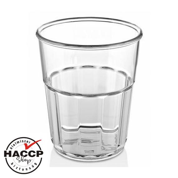 Törhetetlen polikarbonátból készült pohár 300 cc * MÉRSÉKELTEN HŐÁLLÓ *