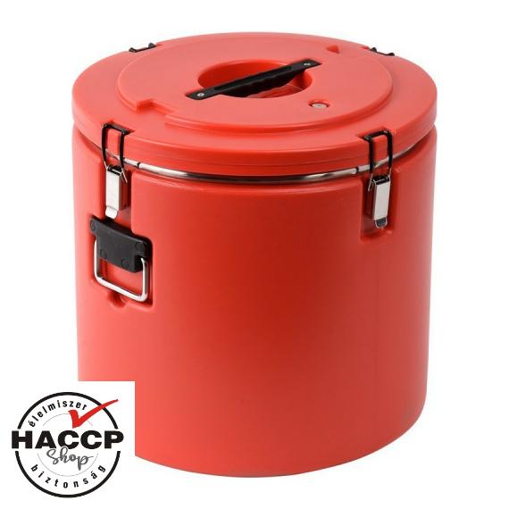 Műanyagfalú ételszállító badella piros 48 L