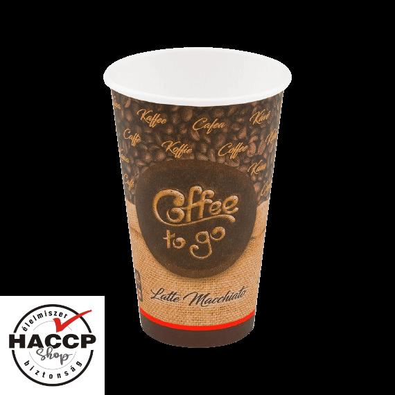 Papírpohár 400ml Coffee to go (90mm)