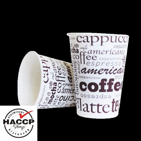 Papírpohár 400ml Coffee Line (90mm)