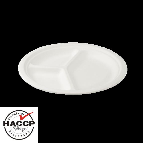 Komposztálható Cukornád tányér 220mm 3 részes