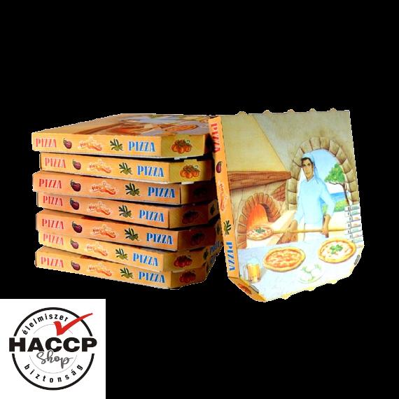 Pizzadoboz  nyomattal 32x32 cm