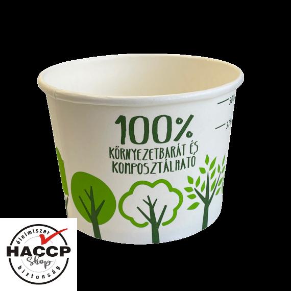 Komposztálható levestál PLA 500 ml
