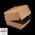 Kép 1/2 - Papír hamburgeres doboz KRAFT 135x135x100mm