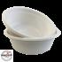 Kép 2/2 - Komposztálható cukornád fehér leveses tál 500ML